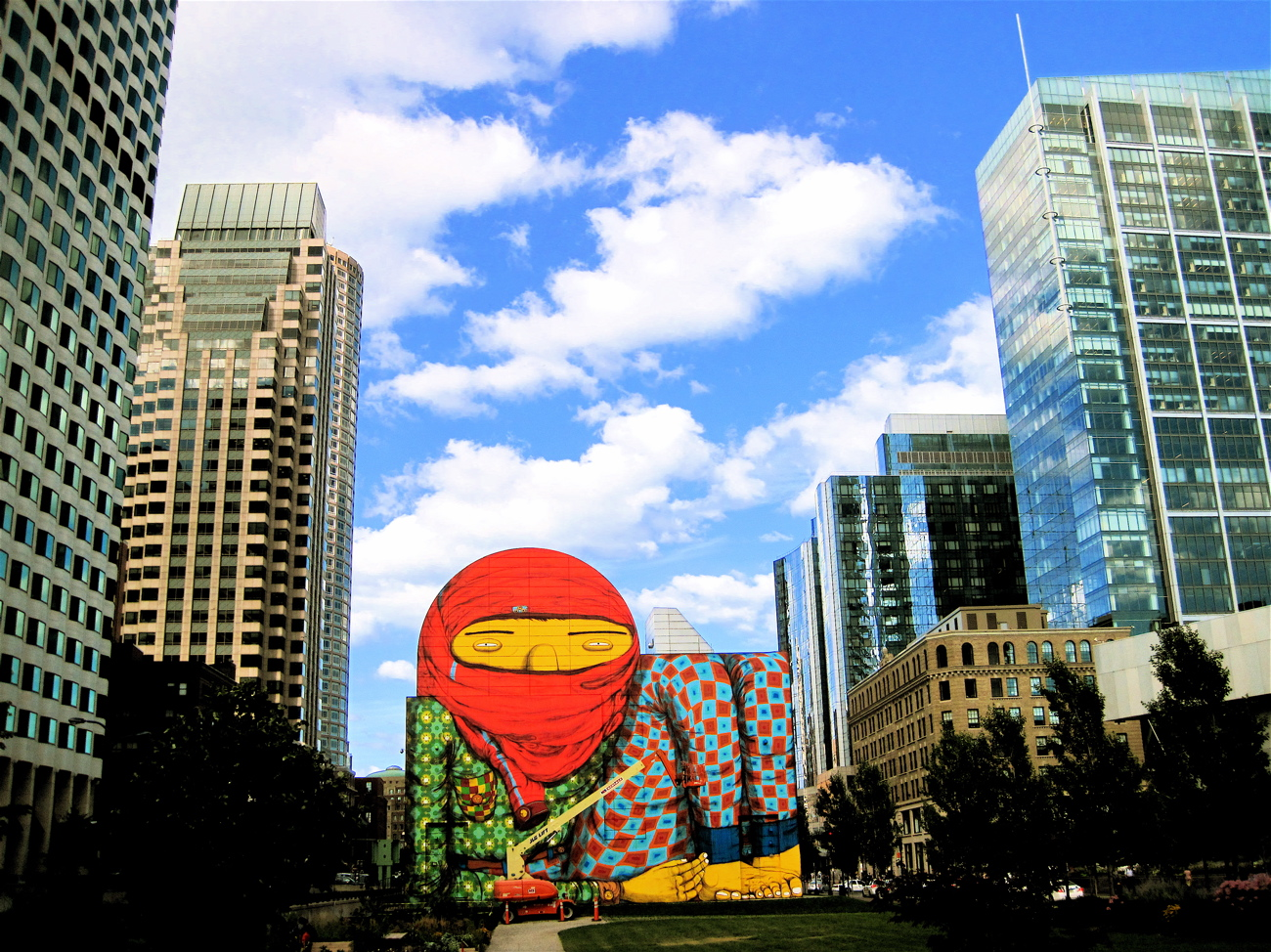 Gold medal for amazing wrong side of the camera for Dewey square mural