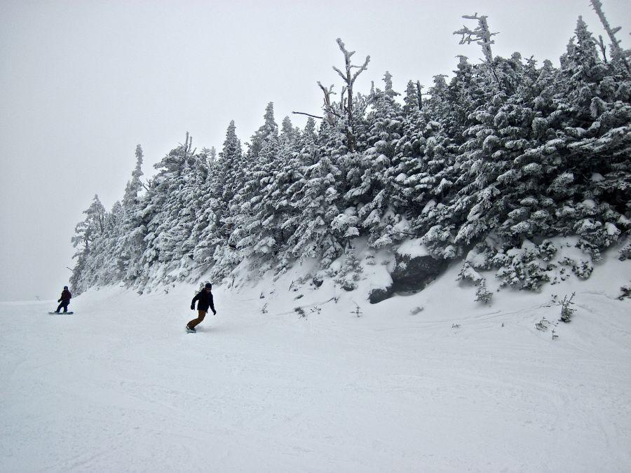 sugarbush heavens gate trees skiers
