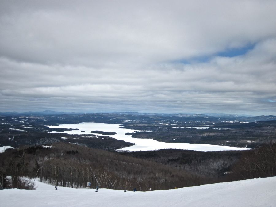 sunapee clouds lake mountain view
