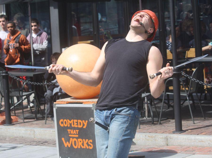 boston faneuil hall brett mccoy real mccoy comedy that works street performer 10