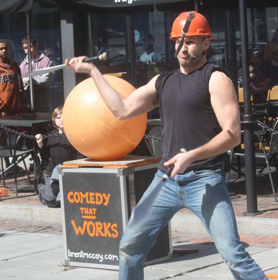 boston faneuil hall brett mccoy real mccoy comedy that works street performer 11