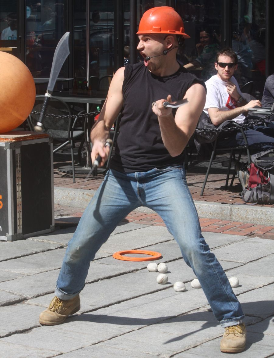 boston faneuil hall brett mccoy real mccoy comedy that works street performer 12