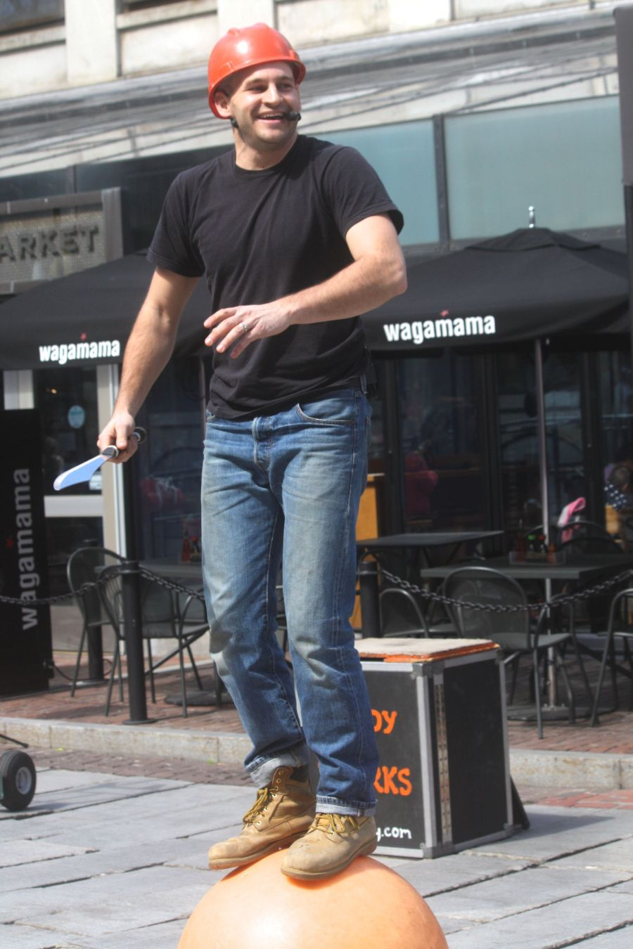 boston faneuil hall brett mccoy real mccoy comedy that works street performer 2