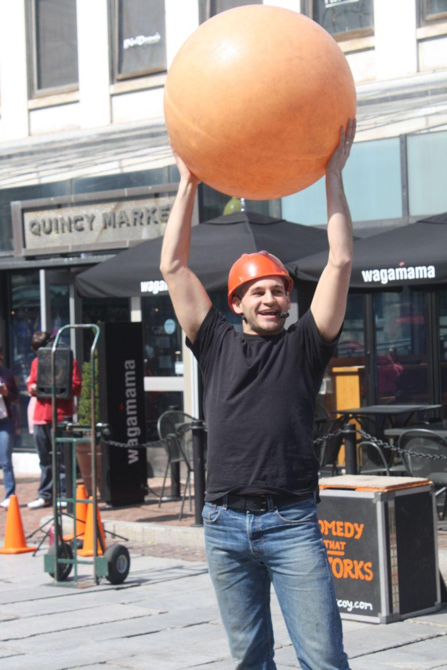 boston faneuil hall brett mccoy real mccoy comedy that works street performer 4