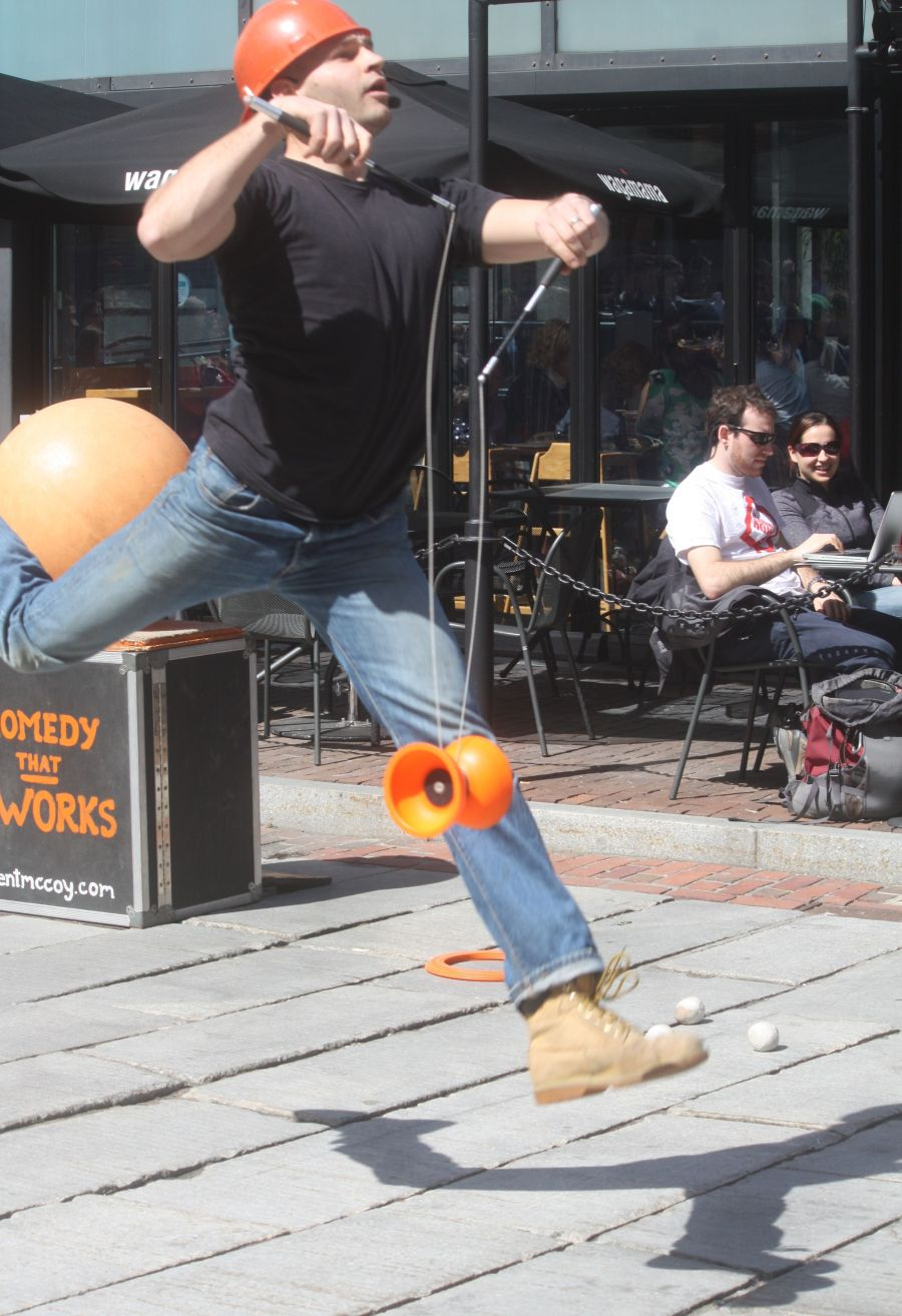 boston faneuil hall brett mccoy real mccoy comedy that works street performer 6