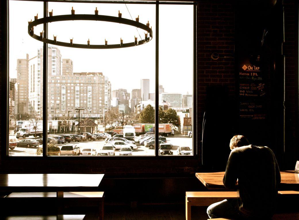 boston harpoon brewery beer garden view