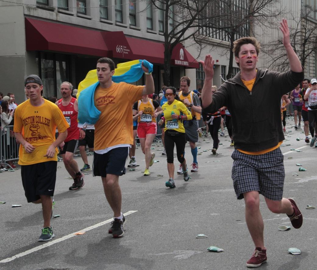 boston marathon 2013 boston college runners