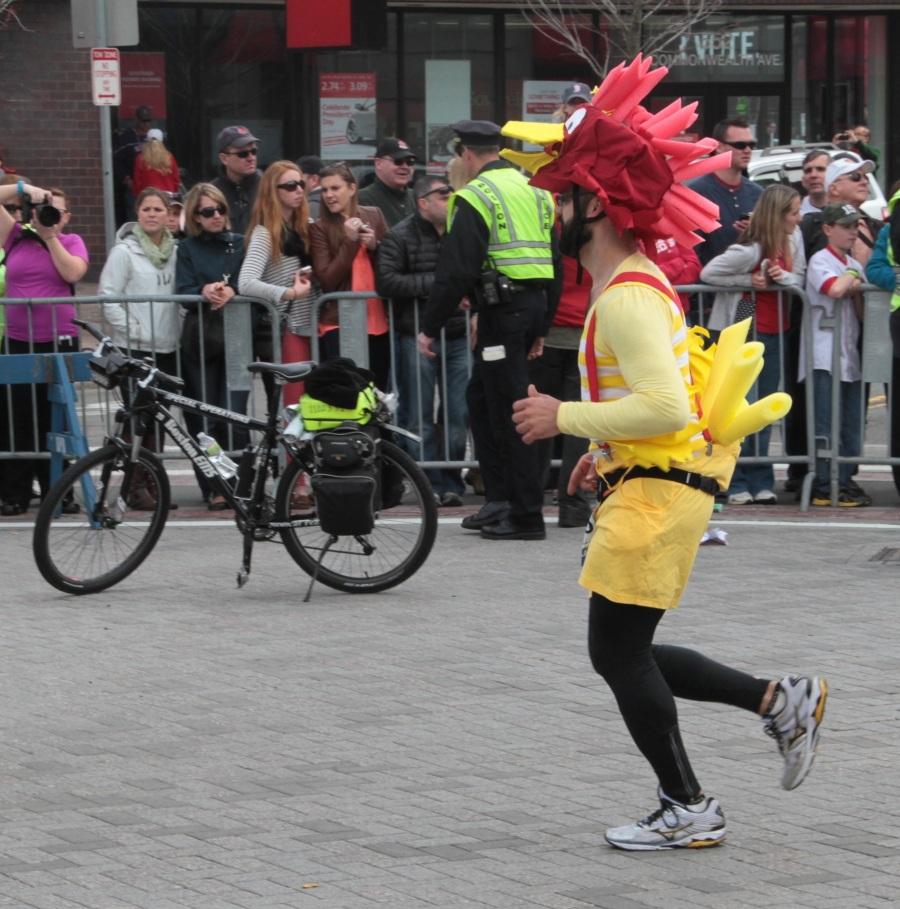 boston marathon 2013 man in chicken suit