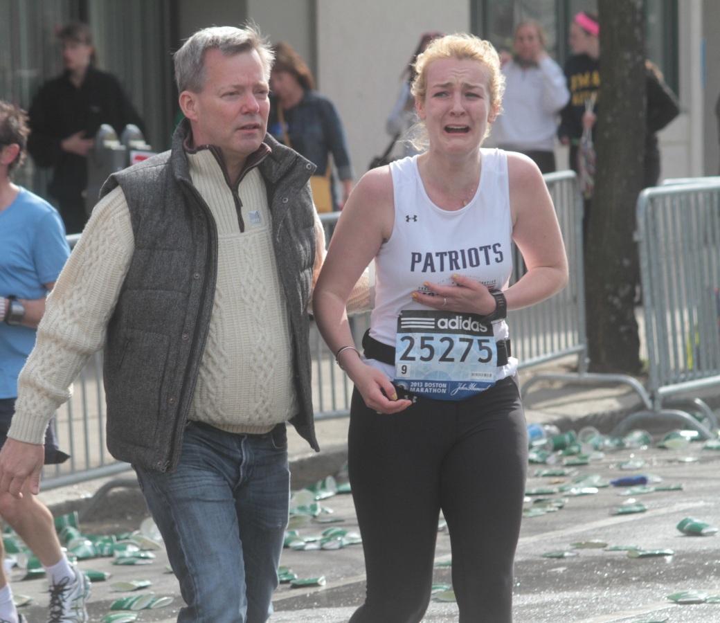 boston marathon 2013 number 25275 runner receiving news about explosion 2