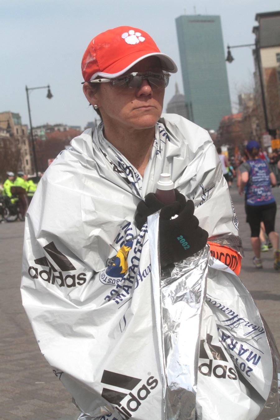 boston marathon 2013 runner finished marathon blanket