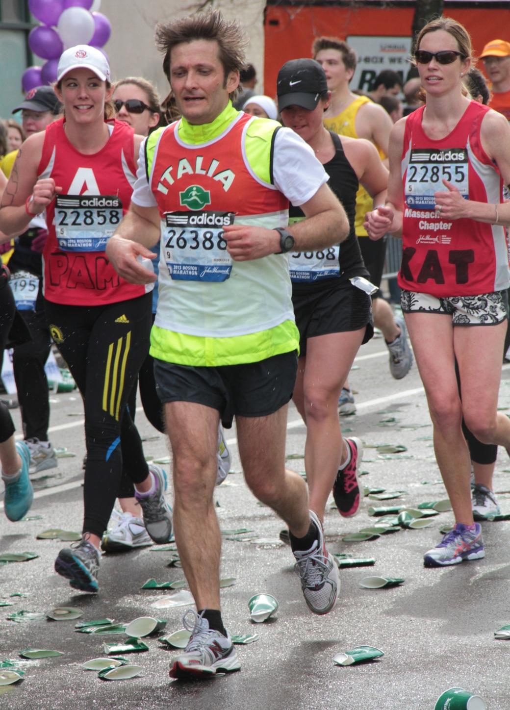 boston marathon 2013 runner number 26388 italia