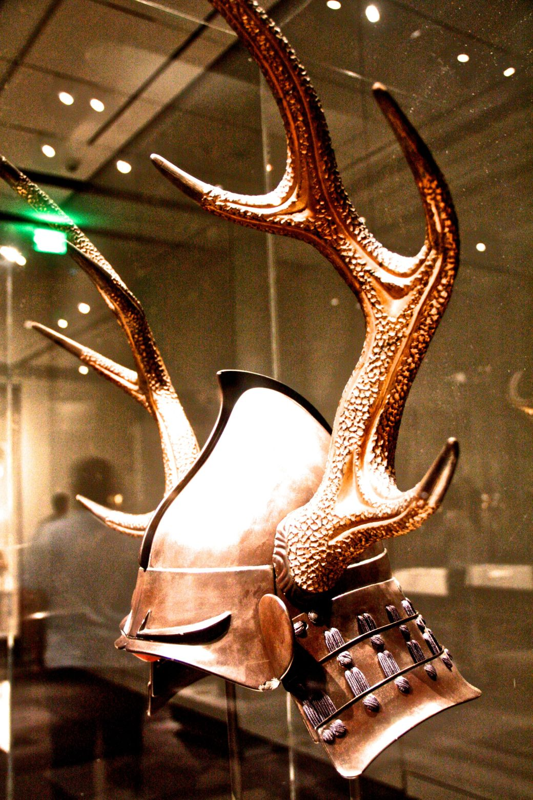 boston museum of fine arts samurai exhibit helmet with the horns