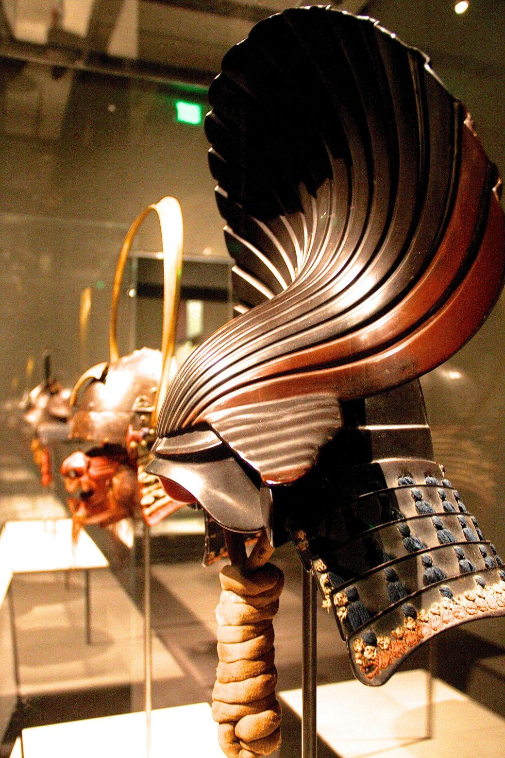boston museum of fine arts samurai exhibit masks