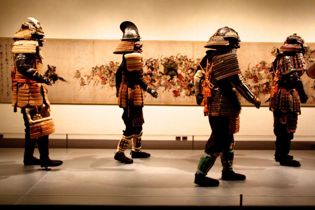boston museum of fine arts samurai exhibit samurai marching