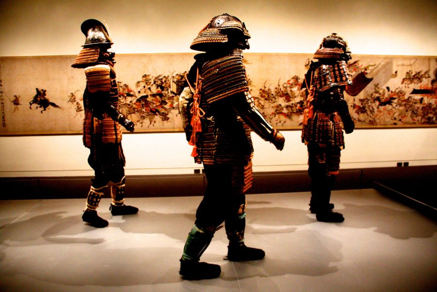 boston museum of fine arts samurai exhibit samurai walking 2