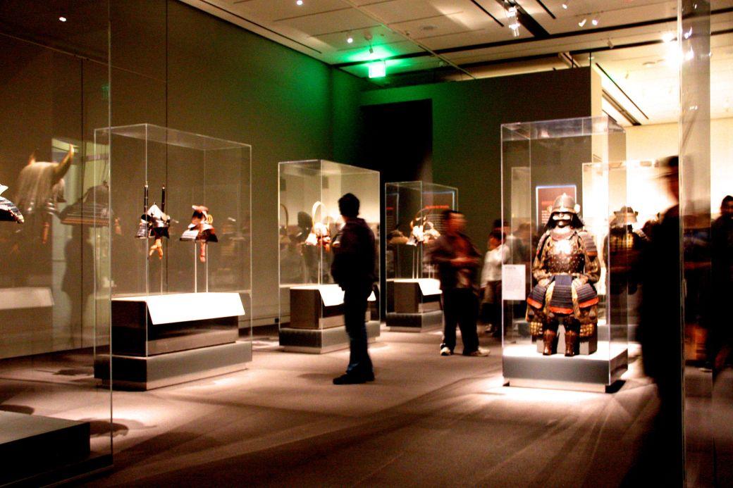 boston museum of fine arts samurai exhibit whole view