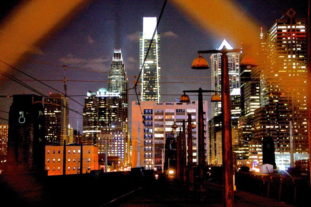philadelphia 30th street station philadelphia night time