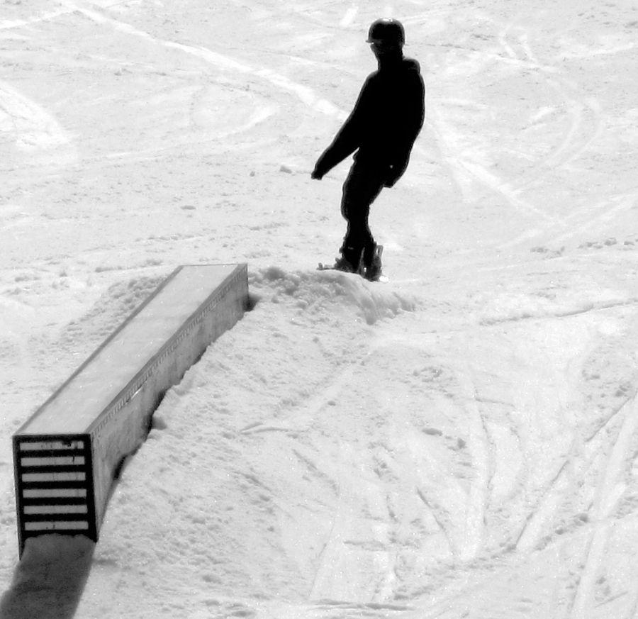 wachusett skier terrain park black white