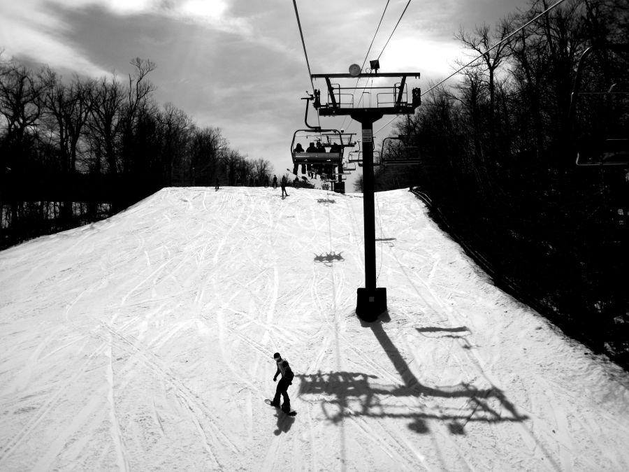 wachusett terrain park black white