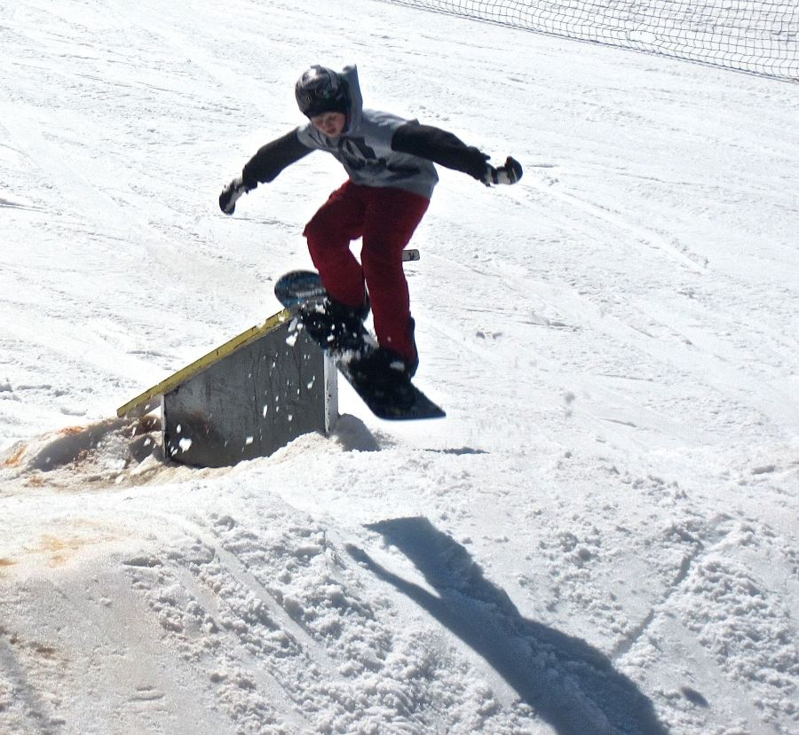 wachusett terrain park snow boarder jumping