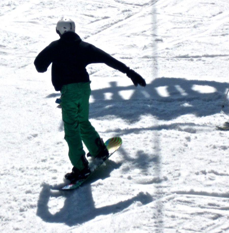 wachusett terrain park snowboarder shadows