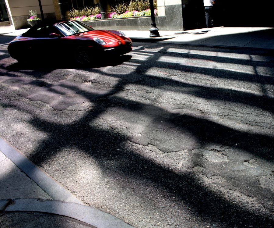 boston downtown crossing shadows porsche