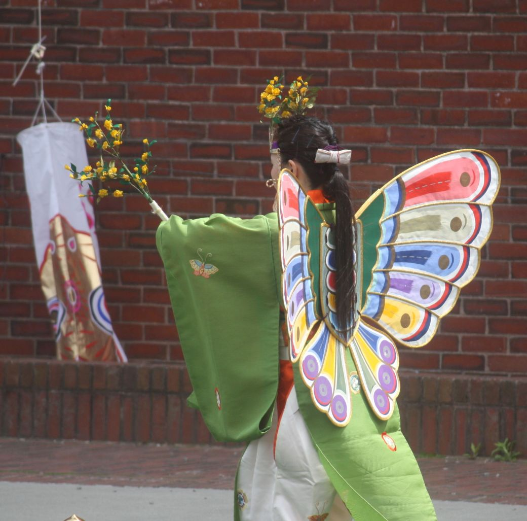 boston government center japanese festival may 19 2013 butterfly costume from back