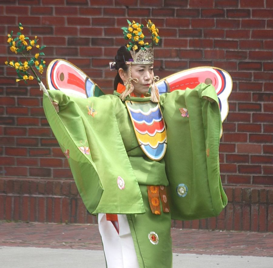 boston government center japanese festival may 19 2013 butterfly costume turned around