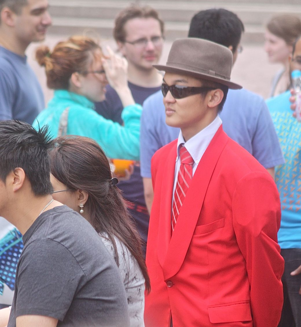 boston government center japanese festival may 19 2013 man in red jacket red tie