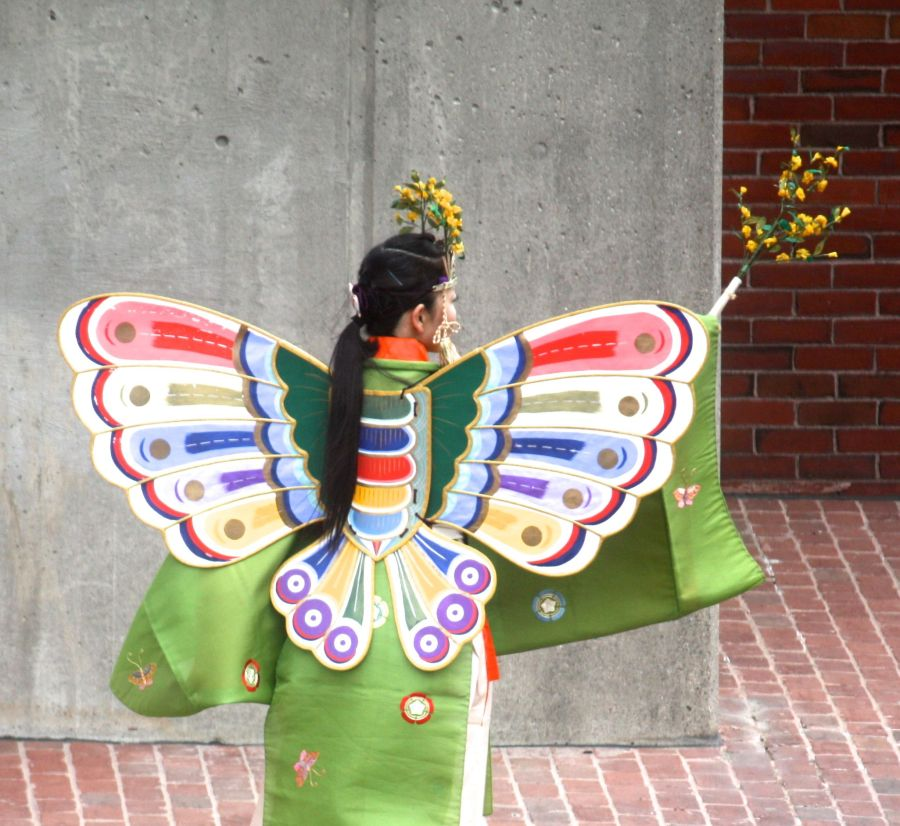 boston government center japanese festival may 19 2013 woman in butterfly costume back 2
