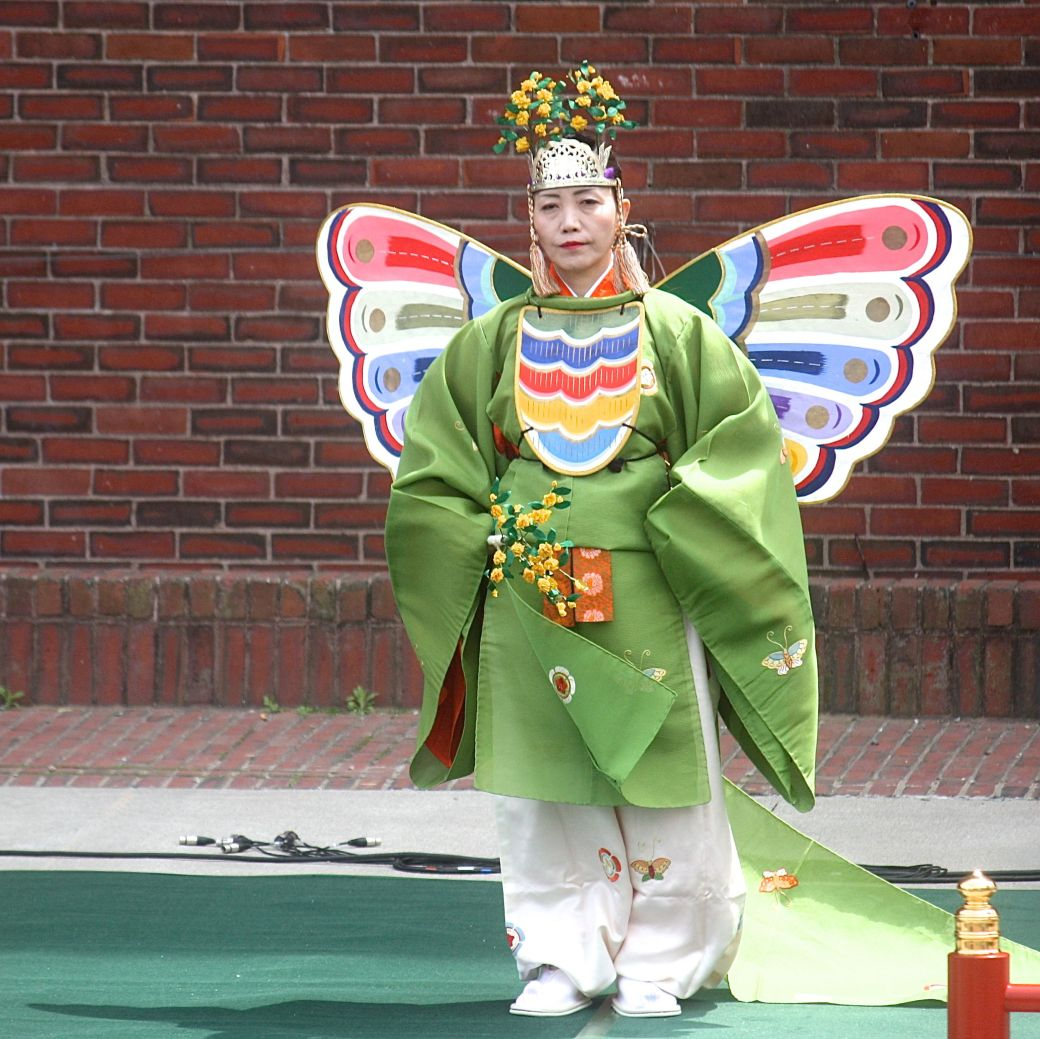 boston government center japanese festival may 19 2013 woman in butterfly costume