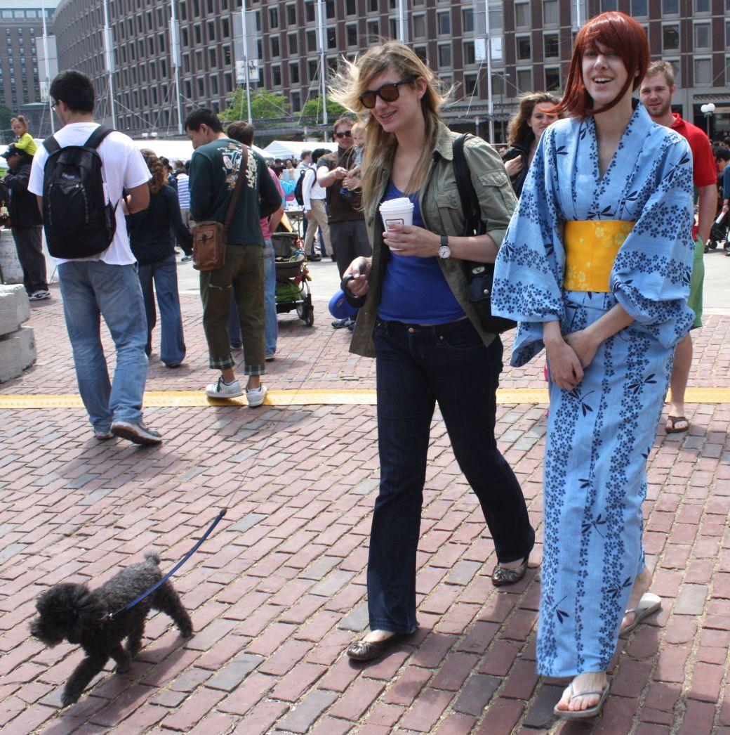 boston government center japanese festival may 19 2013 woman in kimono