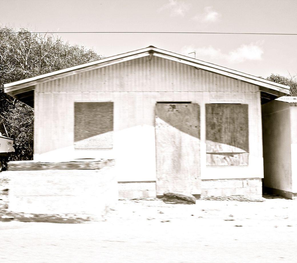 cayman islands bodden town black white house