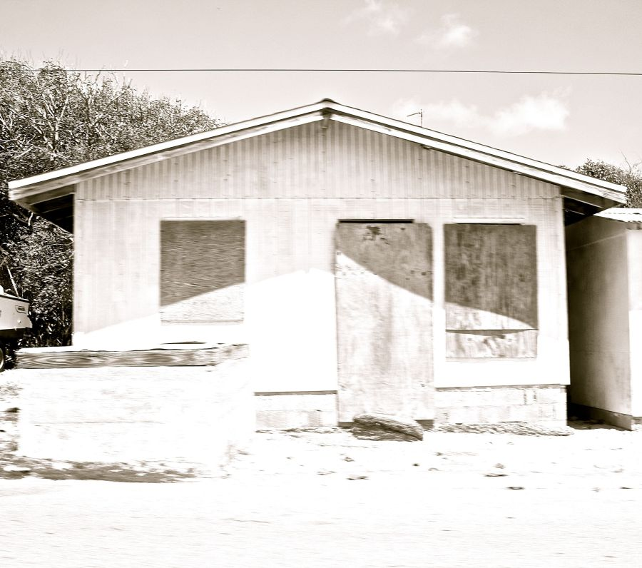 cayman islands bodden town black white house