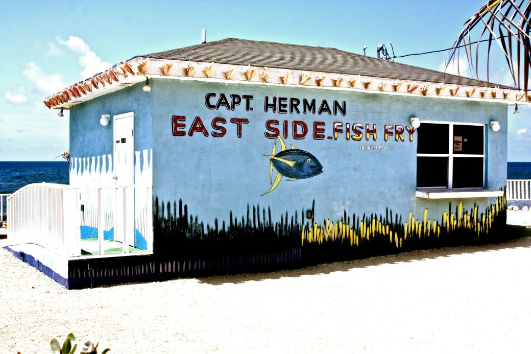 cayman islands captain herman east side fish fry side view