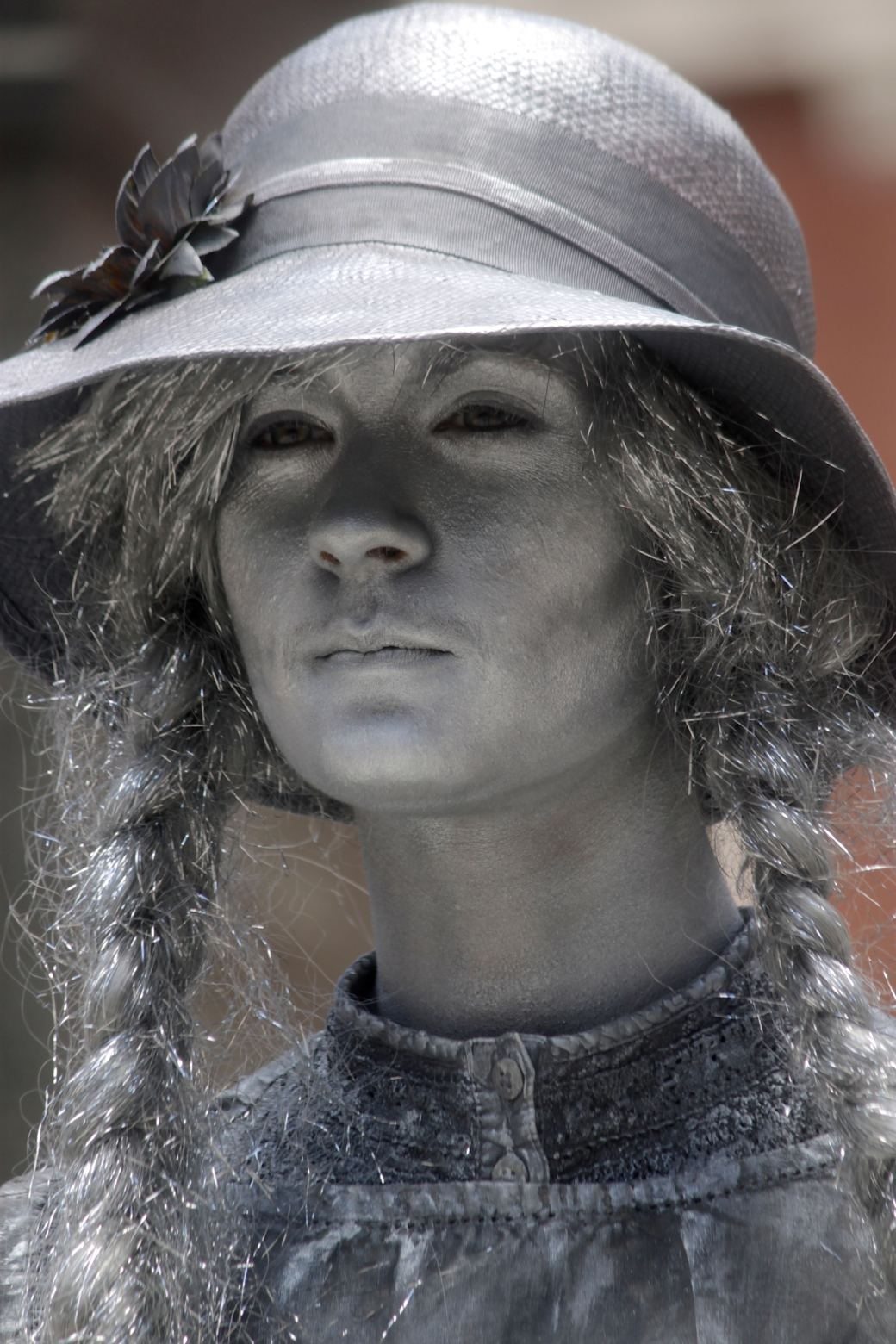 boston faneuil hall silver woman