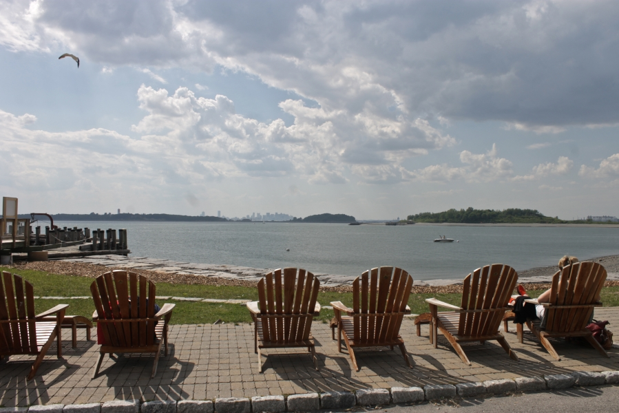 boston georges island fort warren chairs ocean view
