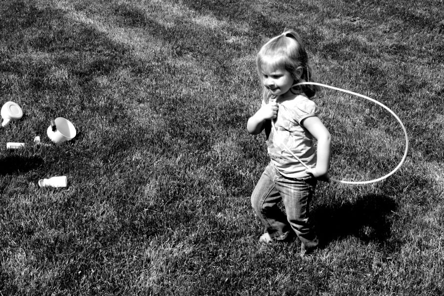 warminster weekend girl with hulahoop
