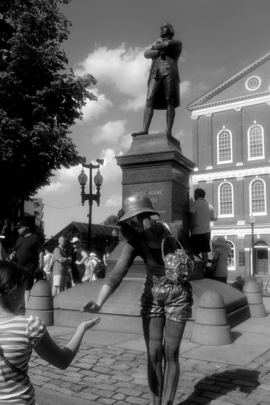 boston faneuil hall silver woman samuel adams