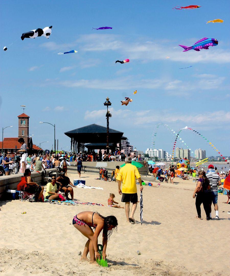 boston revere beach National Sand Sculpting Festival beach view