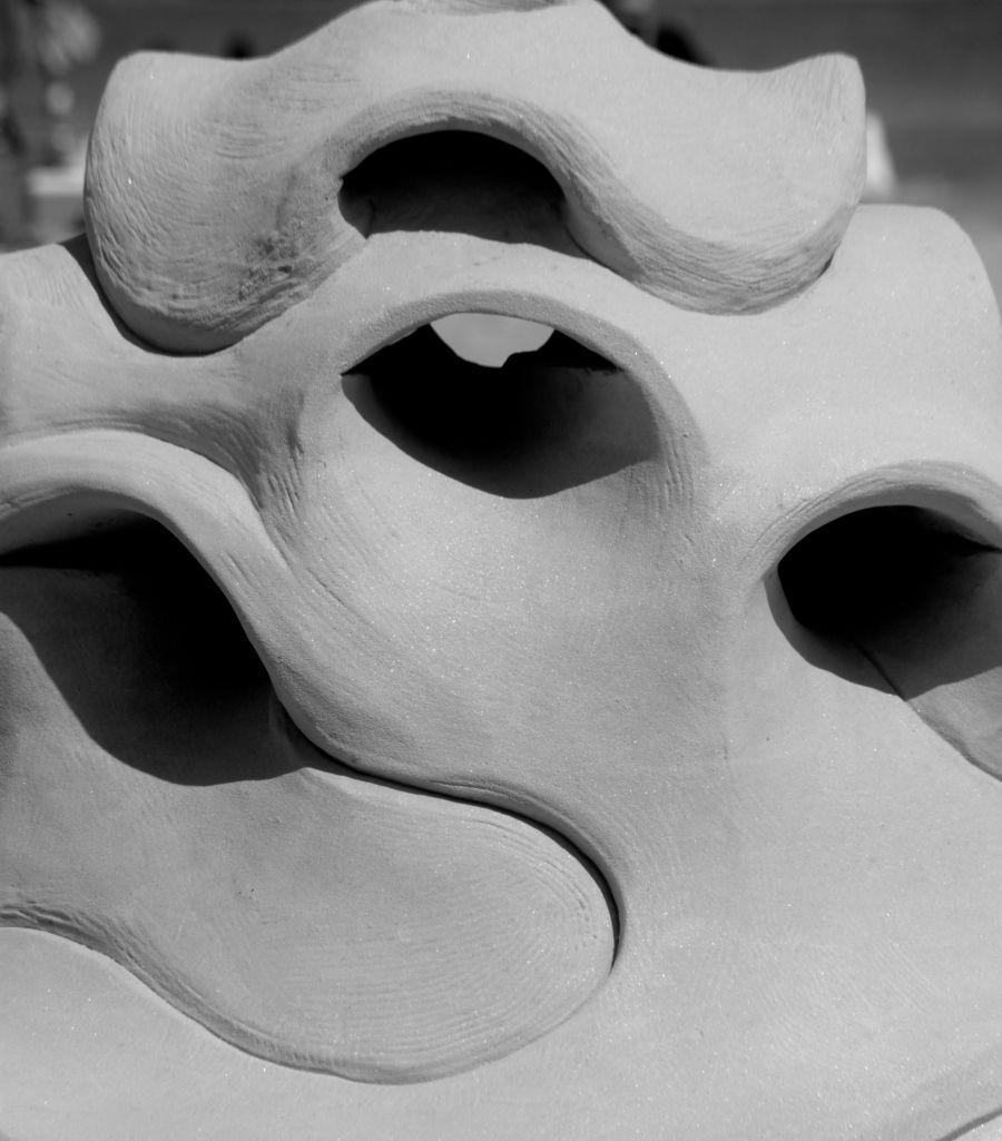 boston revere beach National Sand Sculpting Festival curved sand sculpture