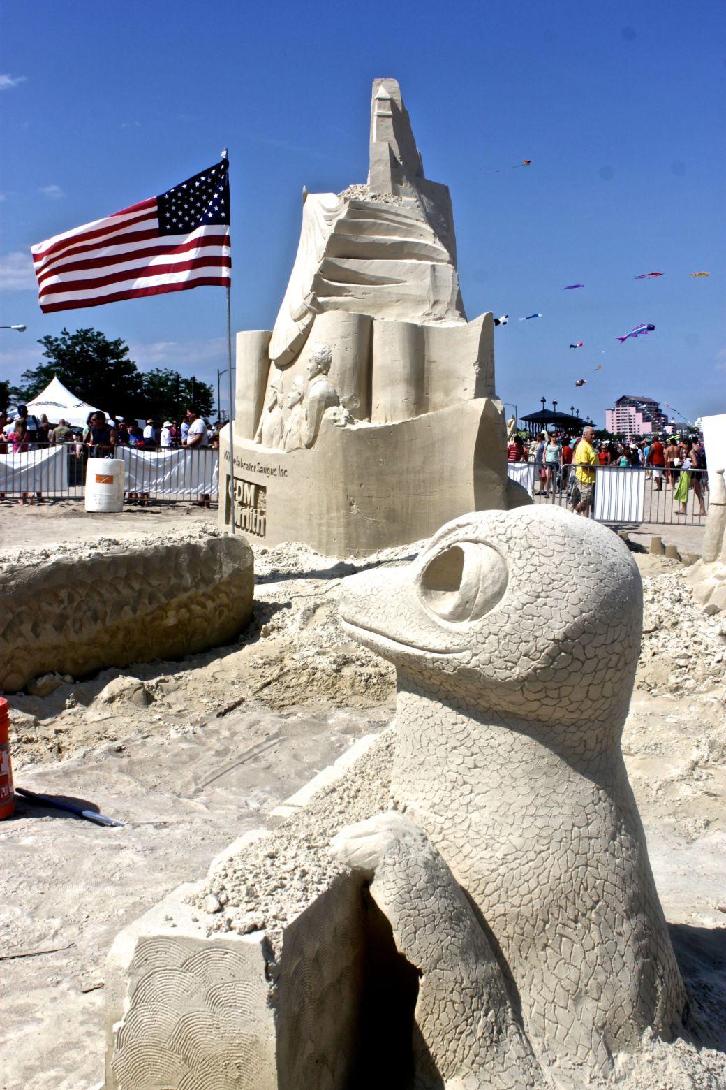 boston revere beach National Sand Sculpting Festival geico gecko