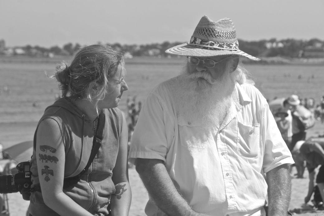 boston revere beach National Sand Sculpting Festival man with long beard