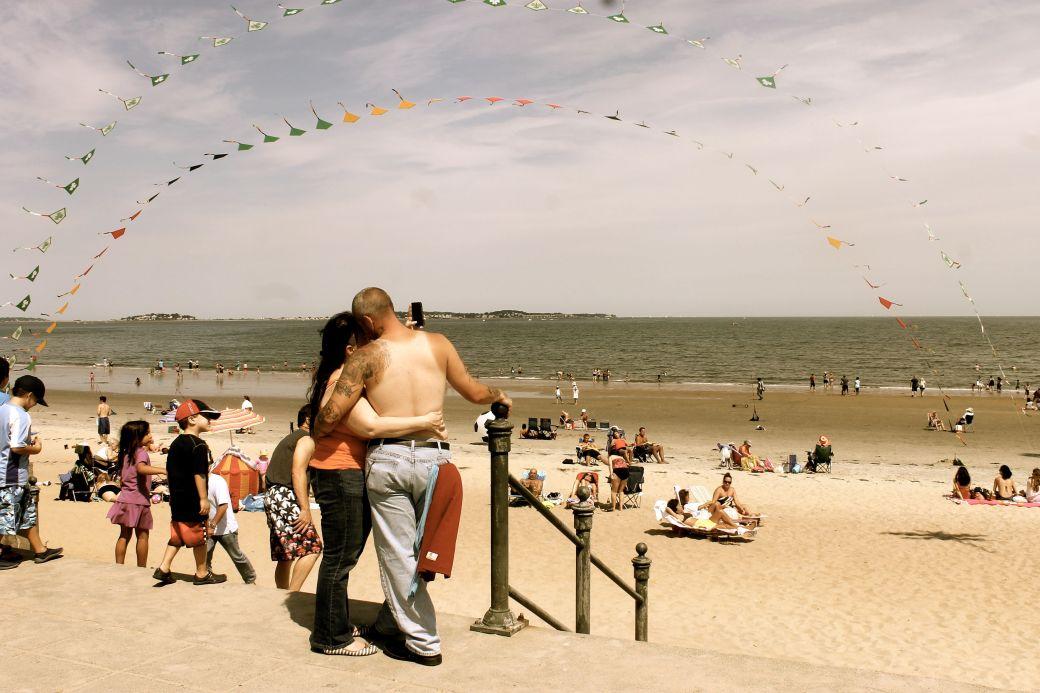 boston revere beach National Sand Sculpting Festival people on the beach
