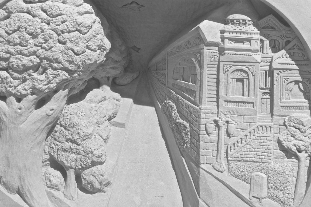 boston revere beach National Sand Sculpting Festival perspective shot sand sculptire