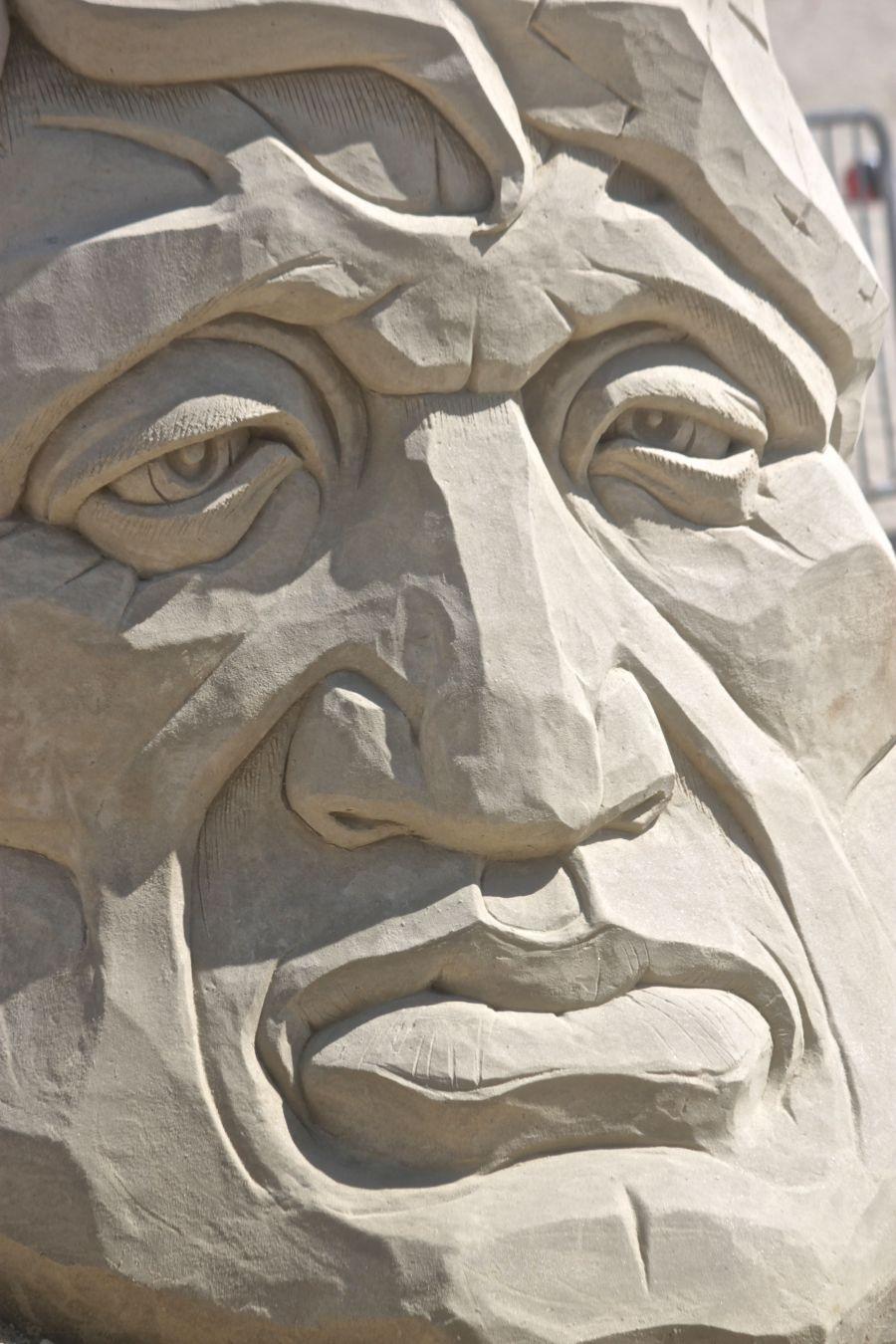 boston revere beach National Sand Sculpting Festival sand sculpture face