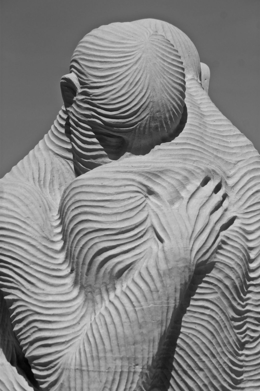 boston revere beach National Sand Sculpting Festival sand sculpture people embracing
