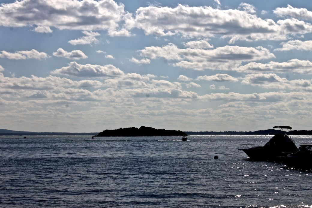 boston georges island clouds water