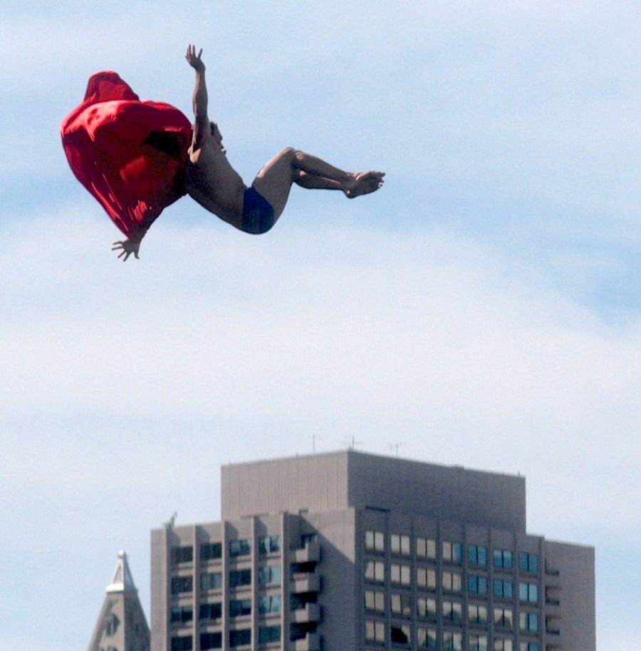 boston institute of contemporary art diving competition august 25 2013 superman red cape 3
