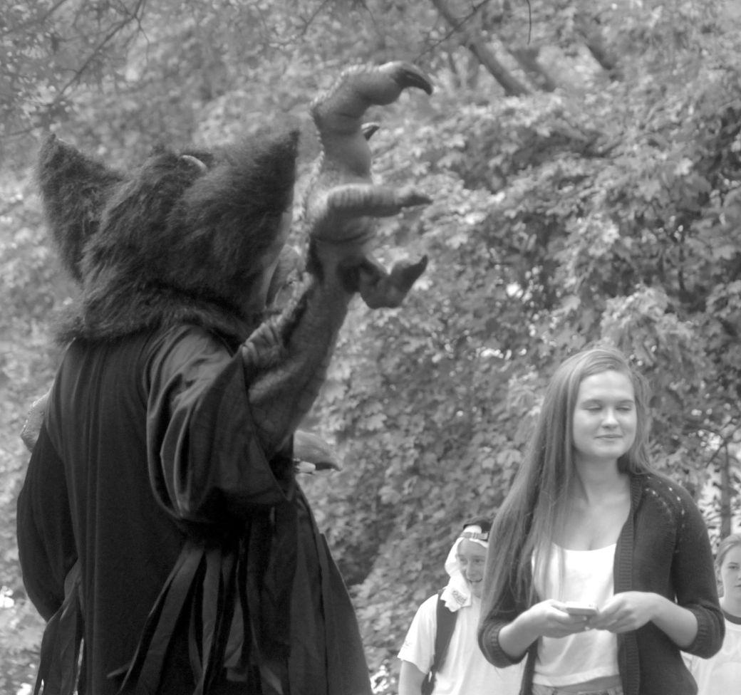 boston hemp fest 2013 man in rat costume raised claw